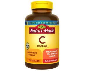 Nature Made Vitamine C 1000 mg 150 Tablets Immune  Antioxidant Exp 2/2024