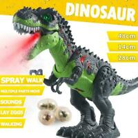 Large Size Walking Electric Dinosaur Robot Toys with Music Light Spray Walk