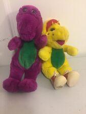 "VTG 1994 Barney And BJ Plush- Purple Yellow Dinosaurs  13"""