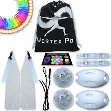 Vortex Poi w/ Helix Handles - Flow Rave Dance Best Light Up Glow LED Poi Set Toy