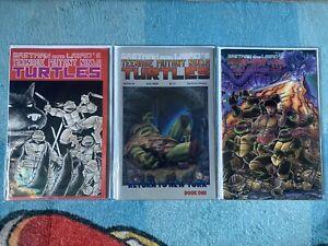 1989 Eastman and Laird's Teenage Mutant Ninja Turtles 3 Comics Lot #1,18,19