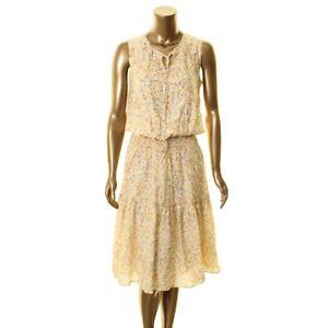 LAUREN RALPH LAUREN NEW Women's Floral Smocked-Waist Fit & Flare Dress TEDO