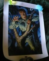 Polar Lights Print Aurora Universal Monsters Wolfman Signed CHRIS WHITE #21/250