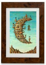"Salvador Dali Framed Print ""Living on the Moon"""