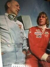 JAMES HUNT / STIRLING MOSS - F1 LEGENDS - EXTRA LARGE UNSIGNED COLOUR PHOTO