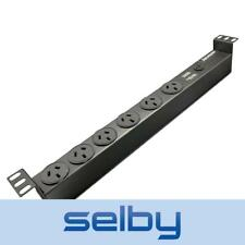 """19"""" Rack Mount 6-Way Power Board With Surge Protection RAC0600"""