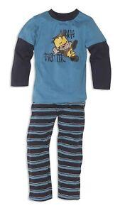 Schlafanzug Jungen aus 100% Baumwolle mit Rundhals-Ausschnitt