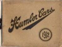 Humber Cars 1912 UK market original range sales brochure