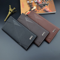 Men's Leather Long Wallet Clutch Purse Bag ID Credit Card Holder Casual Billfold