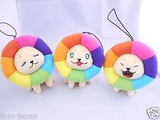 Set of 3 Takashi Murakami Plush Doll stuffed Yume Lion from Japan F/S