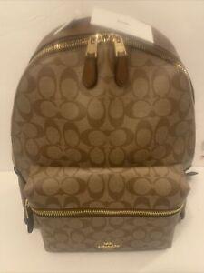 Coach Men's Backpack SIG Charlie F58314 IM/Khaki/Saddle 2 IME74 231965JAX
