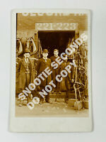 Antique Cabinet Card Photo Blacksmith Harness w/ Amputee Black Man WOW