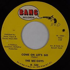 THE McCOYS: Come on Let's Go / Little People USA BANG Rock 45 VG+ Super