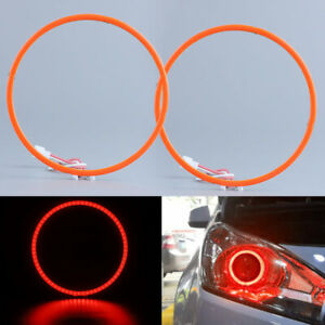 "2pcs Red 3.0"" LED Light Lamp Angel Eyes Halo Rings for Car Headlight Retrofit"