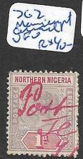 NORTHERN NIGERIA (P1309B) QV 1D SG2 MANUSCRIPT JEBBA IN RED VFU
