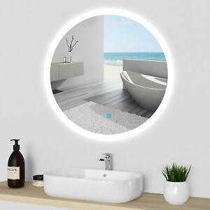 LED Spiegel RUND Lichtspiegel Wandspiegel Badspiegel TOUCH HEIZUNG Beleuchtung