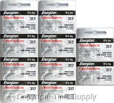 Batteries Sr516Sw Sr516 0%Hg 50 pcs 317 Energizer Watch