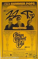 Allman Brothers & Zz Top 1997 San Diego Concert Poster-Blues /Classic Rock Music