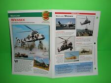 WESTLAND WESSEX AIRCRAFT FACTS CARD AIRPLANE BOOK 63