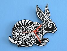 White Rabbit Silhouette - Wall Clock