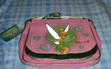 New Disney Tinkerbell Magic Hearts Pink Messenger Bag