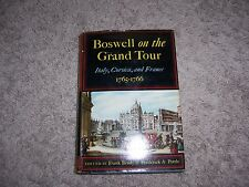 BOSWELL ON THE GRAND TOUR - Italy, Corsica, and France 1765-1766/1st Ed/HCDJ/Bio