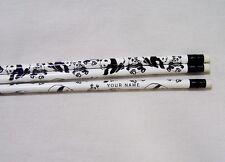 12 PANDA BEAR Personalized Pencils