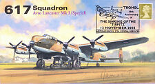 AV600 WWII 617 Squadron RAF Lancaster Tirpitz cover signed JAMES TAIT DSO DFC
