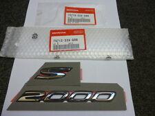 Genuine HONDA S2000 Wing badge emblème 2000-2009