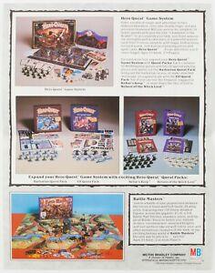 Ad & Order Form for Elf & Barbarian Quests | Original HeroQuest Ephemera