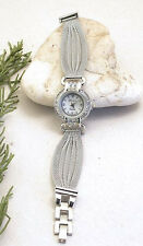HORSE & WESTERN JEWELLERY JEWELRY LADIES WOMENS SILVER MESH BAND WRIST WATCH