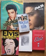 ♫ ELVIS PRESLEY  6 Elvis books - some rare - OOP - in good condition - lot 30 ♫