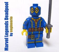 LEGO Custom -- Legends Deadpool v3 -- Blue Marvel super heroes mini figure