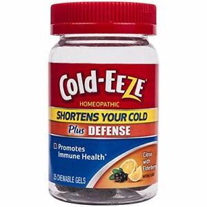 Cold-EEZE Plus Defense Citrus & Elderberry Chewable Gels, 25ct