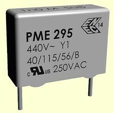 5 pcs. Metallpapierkondensator PME295RB4470MR30 4,7nF 4700pF 440VAC RM15 Y1  #BP