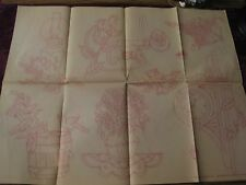 IO-A284  VTG ARTEX HAND  EMBROIDERY PAINTING TRANSFER-ANTIQUE ITEMS/FLOWERS+