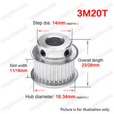 3M20T Timing Belt Pulley Wheel 3mm Pitch with Sets Screw for 10/15mm Width Belt