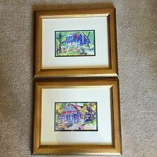 "Two Signed And Framed prints by Lynda Potter -Savannah Georgia 15 1/4"" X 18 1/4"""