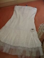 Ladies white broidre  anglais dress. size 10. River Island .
