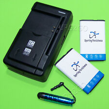 2x 1050 mAh Battery Home Charger Stylus for Straight Talk/TracFone/Net10 LG 441G