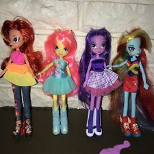 "My Little Pony Equestria Girls 9"" Dolls Lot of 4 Dressed outfits"
