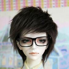 "9-10/"" 24cm Wool//plush short Wig Yellow For 1//3 24/"" 60CM Male BJD SD DK DZ Doll"