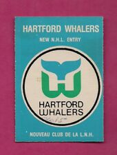 1979-80 OPC # 163 NHL ENTRY HARTFORD WHALERS CHECKLIST CARD (INV# A6025)