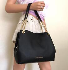 NWT Michael Kors Black Leather Chain Large Shoulder Tote Bag
