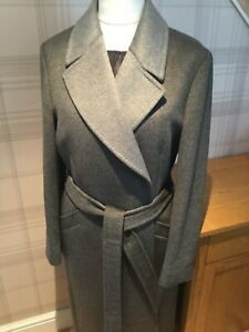 JAEGER Grey Wool Wrap Coat UK16 - RRP £399 BNWT