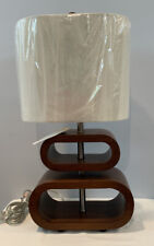 NWT Glenna Jean Dylan Lamp Shade Cherry Wood Color Mid Century Modern Inspired