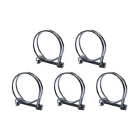 38/40mm DOUBLE WIRE POND HOSE CLIPS 5 PACK CORRUGATED WATER PIPE FILTER PUMP