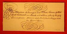 """Schloß Ortenburg 1801 Luxus Schnörkelbrief """"Urlaubsverhalten der Soldaten und..."""