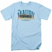 Chevrolet Thumbs Up T Shirt Mens Licensed Chevy Malibu Tee Light Blue