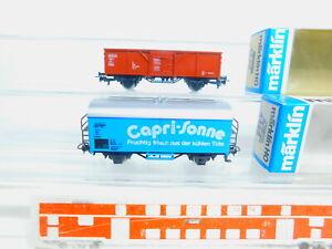 BY535-0, 5 #2x Märklin H0/AC Refrigerator/ Freight Car 4425+ 4430 Capri Sun. G.